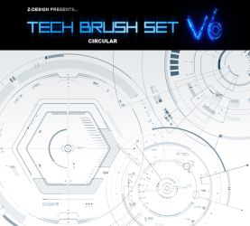 Z-DESIGN Tech Brush Set v6 by z-design
