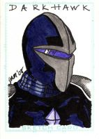 Darkhawk Sketch Card by jamsketchbook