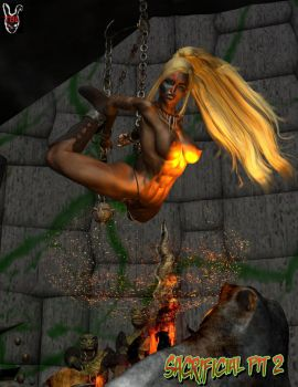 Jyne in the Sacrificial Pit 2 by TheBadLieutenant