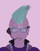 Color Study - Cyber Punk - inprogress by tragicallyhipster