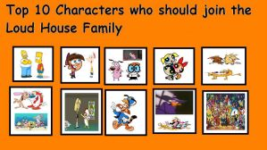 Top 10 Characters Who Should Join The Loud Family by Bart-Toons