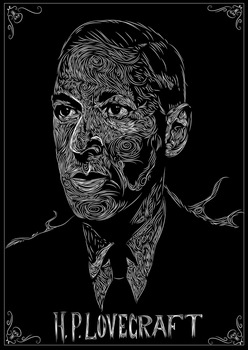 H.P. Lovecraft by leovincible