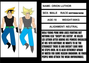 Orion Luthor bio by brandonking2013
