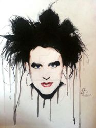 Robert Smith (the Cure) by AuroreGothorn
