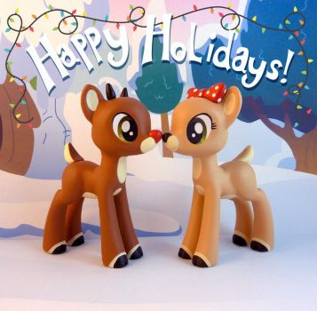 Rudolph and Clarice by krowzivitch