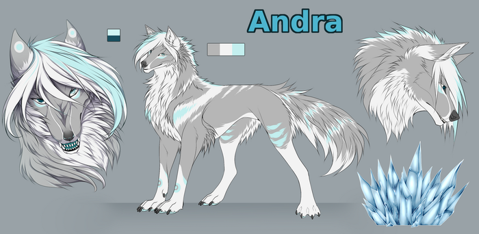 .:Commission:. Andra reference sheet by Arankay