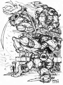 Morning Sketch - TMNT FINAL 01 by RobDuenas