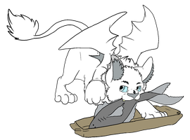 Stealing the Snoggletog Fish by Cattensu