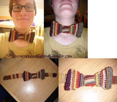 4th Doctor Scarf themed Bowtie by Ambrosial-Wolf