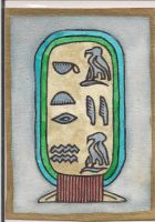 Egyptian Cartouche ATC by mintdawn