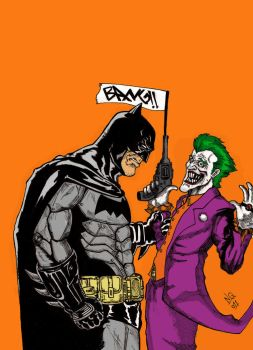 Batman  V Joker color by nic011