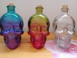 halloween skull glass( used as drinks container) by luwe2009