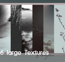 6 large Textures by zakurographics