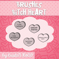 Brushes Bitch Heart by KristeNRoCiO
