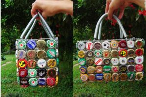 bottle cap bag by idrawnaked