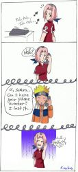 Naruto and the phone by kittygaby