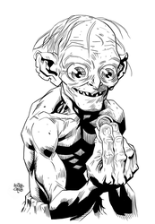 Gollum and Precious by ScribbleSticks