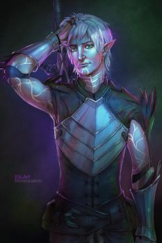 DA2 - Fenris: A light in his eyes by P-JoArt