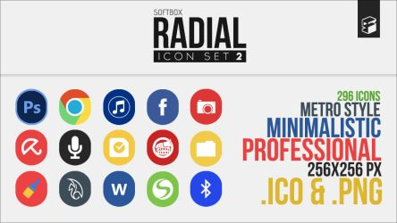Radial Icon Set 2 by Softboxindia