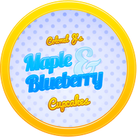 Maple and Blueberry Cupcakes by Echilon