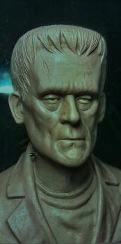 Frankenstein bust by barbelith2000ad