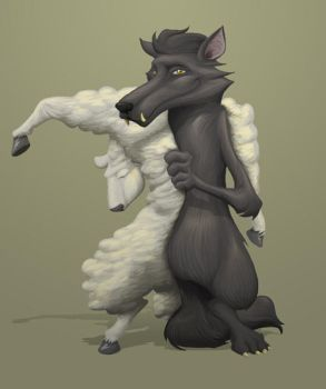Wolf in Sheep's Clothing by Inkthinker