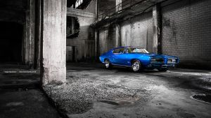 Blue 1968 GTO by AmericanMuscle
