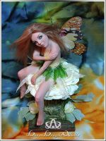 Sunkissed Mona of The New Dawn #97 OOAK Sculpture by bornbrightdolls