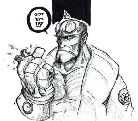 500 watchers Hellboy by OcioProduction