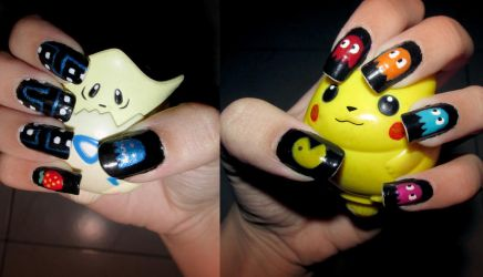 Pac Man nails by Meowzzie