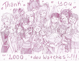 Thank You for 1000 +devWatches [+SpeedArt] by NasikaSakura