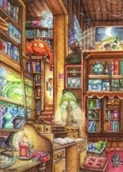A Wizard's Home Office by Ermelin