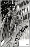 Batman on Gargoyle BVS by garnabiuth
