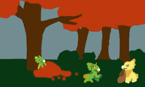 Weekly prompt - Leaf collecting by Runomye