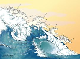 They are in the waves by honeylocust