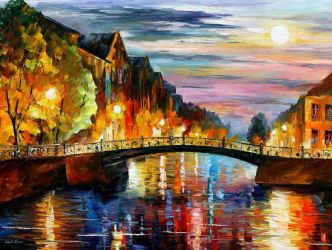 St. Petersburg by Leonid Afremov by Leonidafremov