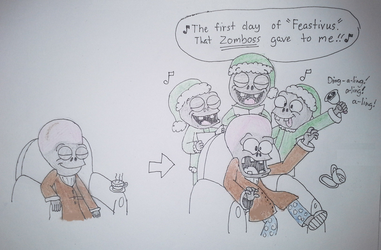 PvZ - Dr. Zomboss's Christmas Feastivus by CrazyPlantMae