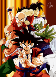 Goku-Piccolo-Ten-Krilin-Yamcha byUzne by Uzne