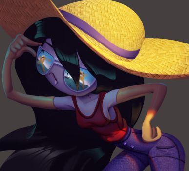 One face a day #62/365. Marceline (adventure time) by Dylean