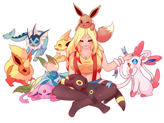 COMMISSION: Eeveelutions by SeviYummy