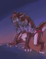 Werewolf Color Sketch by Fringecrow