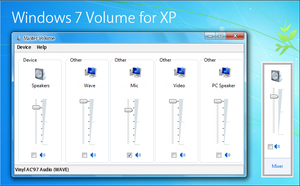 Windows 7 Volume mod for XP by fediaFedia