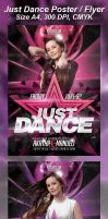 A4 Just Dance Party Club Flyer 8in1 by Ondrejvasak
