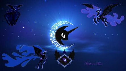 Nightmare Moon Wallpaper by EvilPrincessCadence