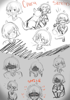 Undertale - Chara sketches by ArtisticAnimal101