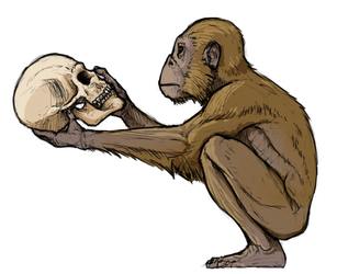252MYA - Australopithecus afarensis - The Thinker by FabrizioDeRossi