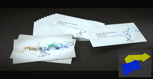 Buisness card render by mezwik