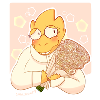 Undertale Rose Collection - Alphys by CubedCake