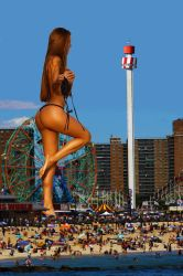 I, Giantess: The Movie (PalmsWorld scene) by fanta333