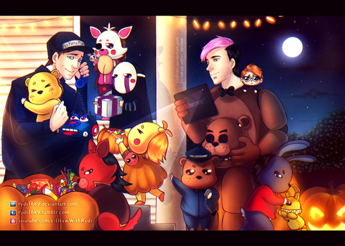 Trick or Treating with Markiplier and Scott by rydi1689